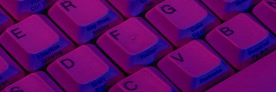 Keyboard with purple filter